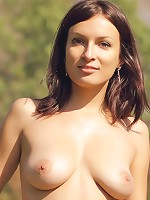 Busty on the nature