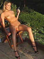 Paola Baby Oil Rub Down at Sunset
