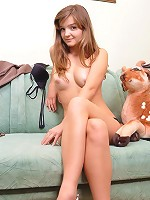 She loves amusing herself with something small and furry. Stroking it is pleasurable