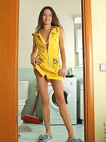 Nubiles.net Rachelle - Take a peek on lusty Rachelle as she gets naughty in the bathroom and wets her horny hairy pussy