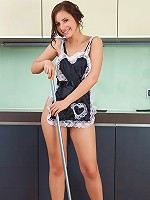 Nubiles.net Victory - Nubile Victory will definitely be hired as a maid in her naughty outfit